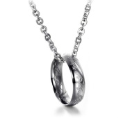 Neevas 316L Stainless Steel Men's Jewellery Movie Lord of the Rings Pendant Ring Necklace