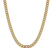 FOSIR 3.5mm Solid 18ct Real Gold Plated Curb Chain Necklace for Men Women, 18-30inch