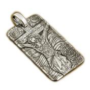 LINSION 999 Sterling Silver Deep Engraved Jesus Crucifix Cross Men Biker Pendant 9X037S JP
