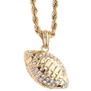 Iced Out Bling Fashion Rope Chain - FOOTBALL BALL gold