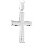 Premium Bling - 925 Sterling Silver XL Cross Pendant