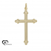 Gold Cross Pendant White Gold 585 without Body Pendant 14Karat 3150