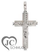 Gold Cross Crucifix Pendant White Gold 585 Gold 14 Karat 3026