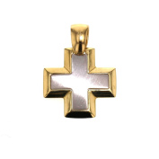 Gold Smooth White Gold Yellow Gold Cross Pendant Necklace Pendant 14 Carat 585 Gold 2447