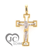 Gold Cross Pendant Crucifix Gold Pendant 14 Carat Gold 2772