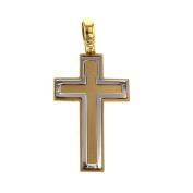 Gold Pendant Smooth Cross Pendant 14-Carat 585 Gold Jewellery 2463