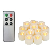 Candle Choice Flameless Battery Operated LED Votive Candles with 6 Keys Remote Control & Timer (Pack of 12), 3.8cm x 3.8cm