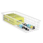 mDesign Wire Laundry Supplies Storage Basket for Detergent, Fabric Softener, Dryer Sheets - Matte White
