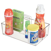 mDesign Laundry Supplies Storage Organiser Tote for Detergent Pods, Bleach, Dryer Sheets - Clear