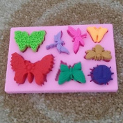 Baking Mould Animal Butterfly Shaped Fondant Cake Chocolate Silicone Mould Cupcake Cake Decoration Tools,L10.6cmW6.8cmH1cm