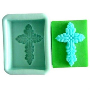 Baking Mould Cross Fondant Cake Chocolate Resin Candy Silicone Mould,L7.5cmW6cmH4cm