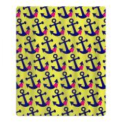Romantic Rose Anchor Quick-drying Pool Beach Towel Travel Bath Towel For Kids