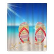 Flip-flops Shells Sunshine Quick-drying Pool Beach Towel Travel Bath Towel For Kids