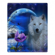 Wolf Moon Fantasy Quick-drying Pool Beach Towel Travel Bath Towel For Kids