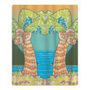 Tropical Mosaic Palm Quick-drying Pool Beach Towel Travel Bath Towel For Kids