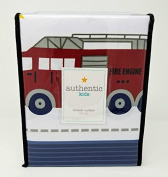 Authentic Kids Shower Curtain - Fire Trucks, Police Cars, and Ambulance - 180cm x 180cm
