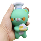 JoyJay 1 PC Soft Squishy Toy Chef Bear Scented Super Slow Rising Kids Toy Strap Squishy Toys Slow Rising Party Favours Phone Straps 14cm*7cm*8CM