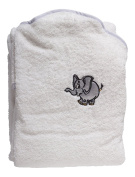 Hands Free Hooded Baby Towel 100% Cotton Bath Safety Wrap Apron Newborn Gift - White