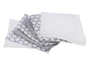 Motherhood Baby Wash Cotton Muslin Baby Wash Cloths – Pack of 7), 30 x 30 cm, Oeko-Tex Standard 100