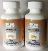 Turmeric & Black Pepper & Ginger Capsules   Chia4uk Ltd  HIGH STRENGTH 650mg  240 Veg capsules 2 x 120 Bottles   Made In the UK  Great For Joint Pain and Arthritis Relief