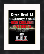 Super Bowl LI (51) 2016 New England Patriots 11 x 14 Matted Framed Picture Ready to hang