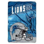 "Northwest Detroit Lions NFL ""Stagger"" 160cm x 230cm Oversized Micro Raschel Throw Blanket"