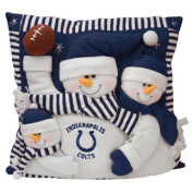 Indianapolis Colts Snowman Family Pillow