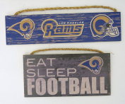 Los Angeles Rams, NFL , Wall Decor, team Sign and eat sleep football.