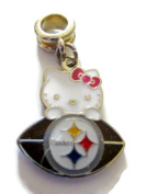 PITTSBURGH STEELERS HELLO KITTY OFFICIALLY licenced CHARM WITH CONNECTOR