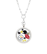 Pittsburgh Steelers Floating Locket with 80cm Stainless Steel Chain
