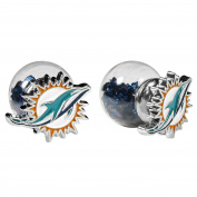 NFL Miami Dolphins Front/Back Stud Earrings