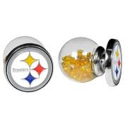 NFL Pittsburgh Steelers Front/Back Stud Earrings