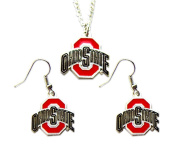Ohio State Buckyes Necklace and Dangle Earring Charm Set [Misc.]