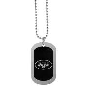 NFL New York Jets Chrome Tag Necklace, 70cm