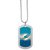 NFL Miami Dolphins Team Tag Necklace, Steel, 70cm