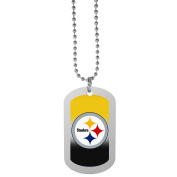NFL Pittsburgh Steelers Team Tag Necklace, Steel, 70cm