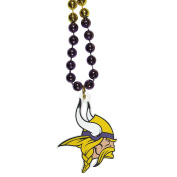 NFL Minnesota Vikings Mardi Gras Necklace, 90cm