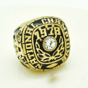 for YIYICOOL fans' collection 1978 ALABAMA SUGAR BOWL Championship rings size 11