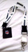 NFL Dallas Cowboys Throwback Lanyards, Navy/White, One Size