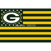 NFL Green Bay Packers Stars and Stripes Flag Banner - 0.9m X 1.5m