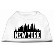 Mirage Pet Products New York Skyline Screen Print Shirt for Pets, X-Large, White
