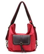 HandbagCrave Avarie 3 in 1 Canvas Shoulder Bag Cross Body Bag Backpack
