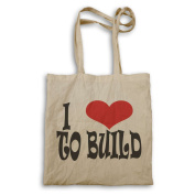 I love to build Novelty Tote bag q94r