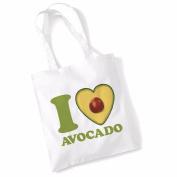 Avocado Tote Bags for Women Vegan Gifts Cotton Shopping Bag Ladies Shoulder Bag Printed Beach Bag I Love Avocado Tote Bag