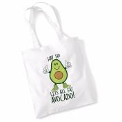 Avocado Tote Bags for Women Vegan Gifts Cotton Shopping Bag Ladies Shoulder Bag Printed Beach Bag Hay Ho Lets All Eat Avocado Tote Bag