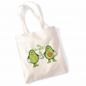 Avocado Tote Bags for Women Vegan Gifts Cotton Shopping Bag Ladies Shoulder Bag Printed Beach Bag You Complete Me