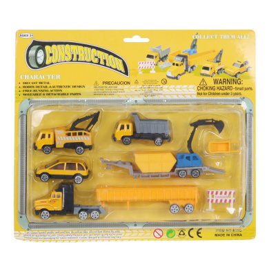Pack of 7 Tough Construction Playset Car High-simulation Vehicle Excavator
