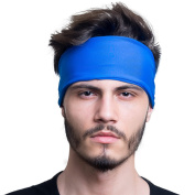 Mens Headband / Sweatband Best for Sports, Running, Workout, Yoga + Elastic Hair Band - Ultimate Athletic Performance
