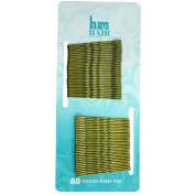 Professional Salon Bobby Hair Grips Invisible Kirby Pins Wavy (60pcs
