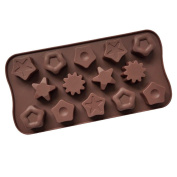 ZWANDP 14 grid Different Star Shape Silicone Chocolate Mould Ice tray Candy Decorative utensils